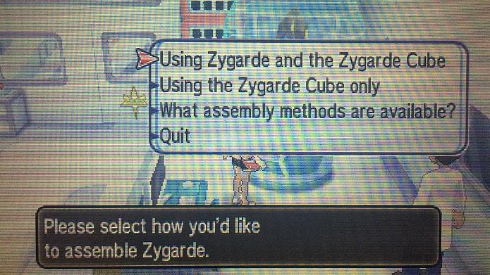 Use o trailer da Route 16 para unir as células e núcleos de Zygarde (Foto: Reprodução/Tais Carvalho)