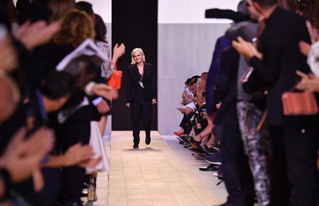 Maria Grazia em sua estreia na Dior, em setembro passado (Foto: Getty Images)
