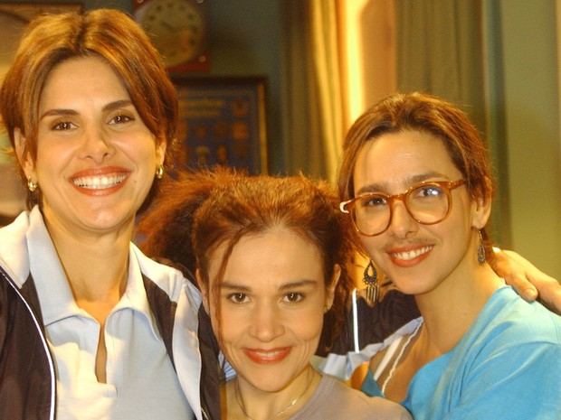 Helena Fernandes com Claudia Rodrigues em A Diarista (Foto: CEDOC/TV Globo)