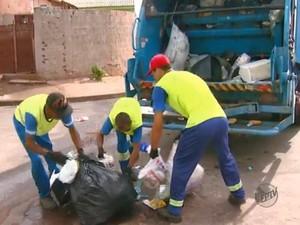 Descarte irregular de lixo provoca acidentes em Rio Claro, SP (Foto: Reprodução/EPTV)