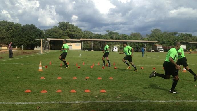 Árbitros fazem testes para apitar jogos do Tocantins (Foto: Cyntia Miranda/GloboEsporte.com)