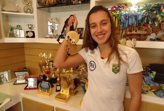 Larissa Martins Oliveira natação Juiz de Fora medalha Doha Catar  (Foto: Bruno Ribeiro)