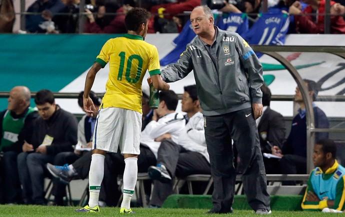 Scolari Neymar Brasil x Coreia (Foto: AP)