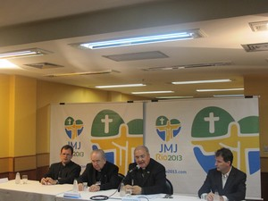 Organização da Jornada Mundial da Juventude realizou coletiva na manhã desta quarta-feira (28) (Foto: Renata Soares/G1)