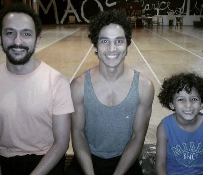 Bento será vivido por Irandhir Santos, Diyo Coêlho e pelo pequeno Vitor Aleixo (Foto: Arquivo Pessoal)