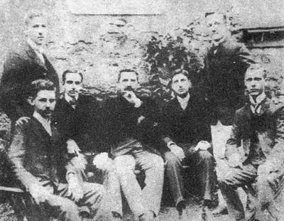 Os sete fundadores do America (Foto: Divulgação)