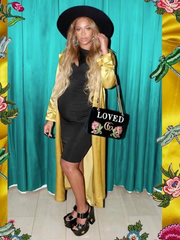 Grávida, Beyoncé posa em sessão de fotos para o seu perfil no Instagram (Foto: Reprodução/ Instagram)