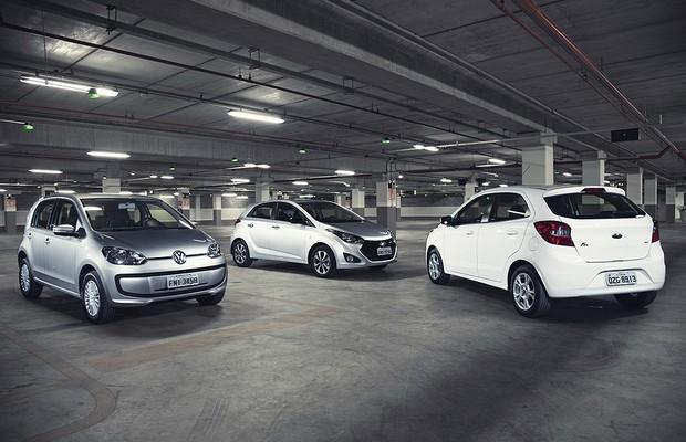 Compartativo: Novo Ford Ka enfrenta Hyundai HB20 e VW up! (Foto: Fabio Aro)