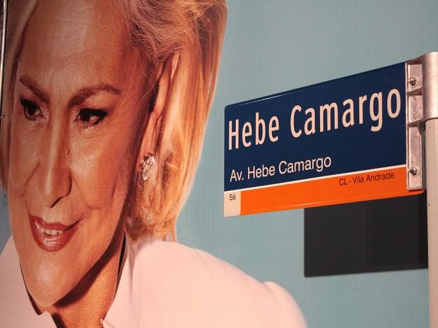 Hebe, avenida, inauguração (Foto: Luiz Claudio Barbosa/Futura Press/Estadão Conteúdo)