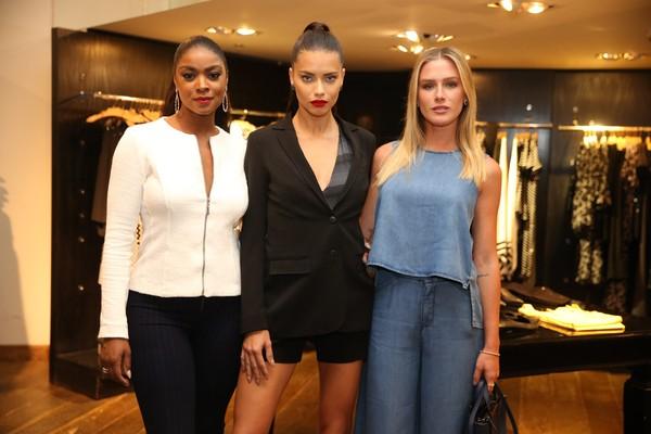 Adriana Lima, Fiorella Mattheis e Cris Vianna arrasam em evento no Rio