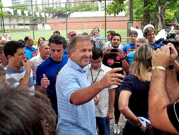 Zico eleições Flamengo  (Foto: Nelson Veiga / Globoesporte.com)