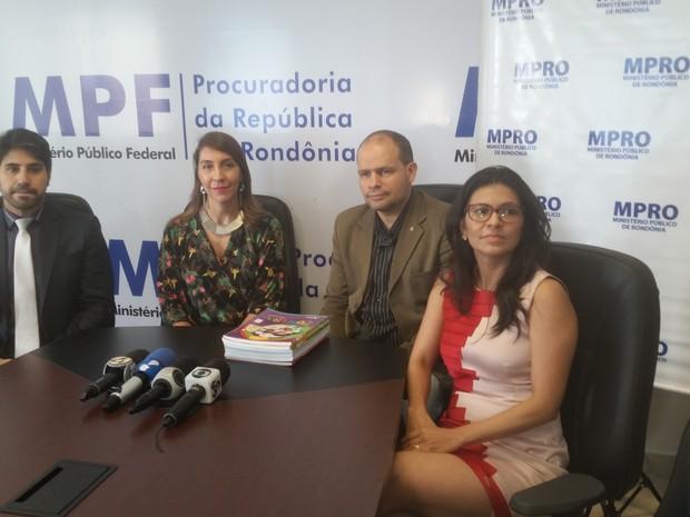 Ação foi divulgada nesta quarta-feira, 22, durante coletiva à imprensa no MPF-RO (Foto: Toni Francis/G1)