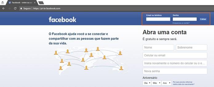 Acesse sua segunda conta do Facebook pela janela anônima (Foto: Reprodução/Barbara Mannara)