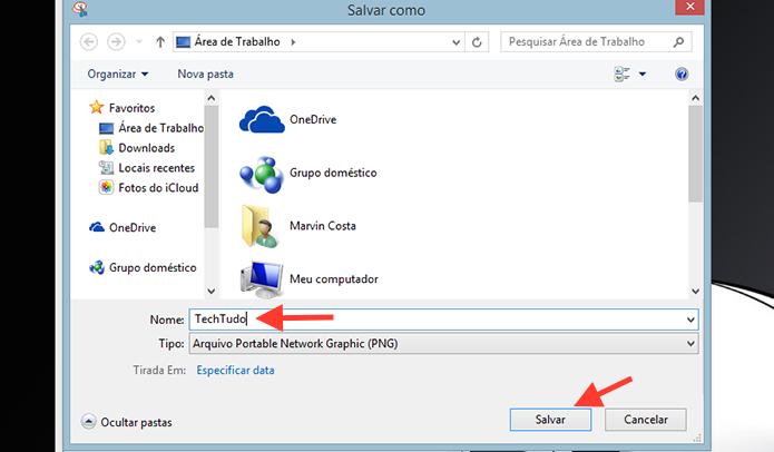 Salvando a captura de tela registrada no Windows (Foto: Reprodução/Marvin Costa)