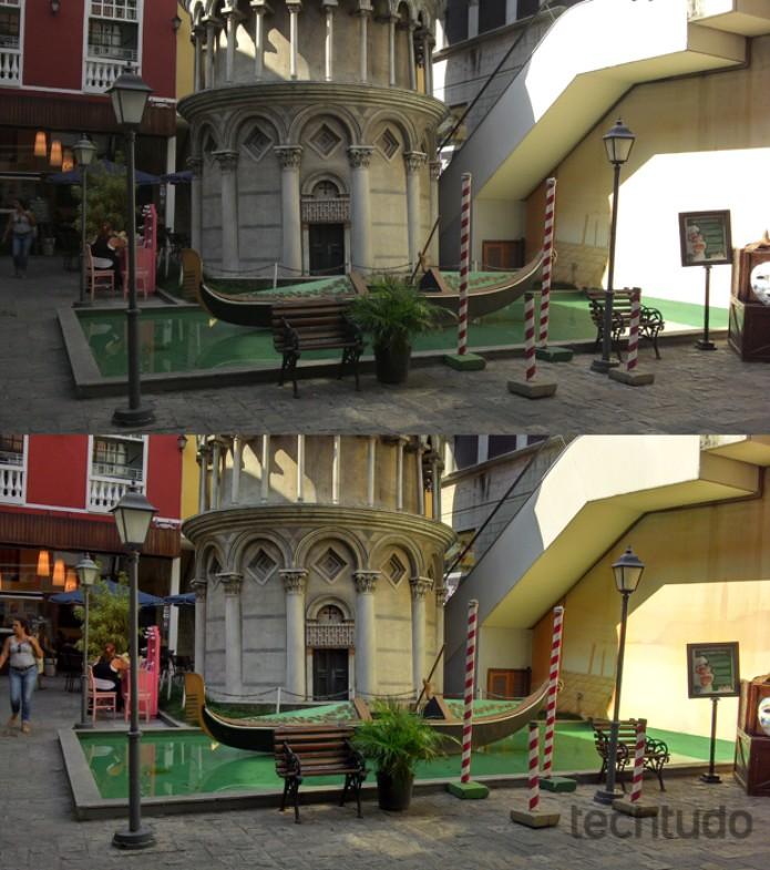 Fotos tiradas com o Motorola Razr i: sem HDR (primeira) e com HDR (Foto: Allan Melo / TechTudo)