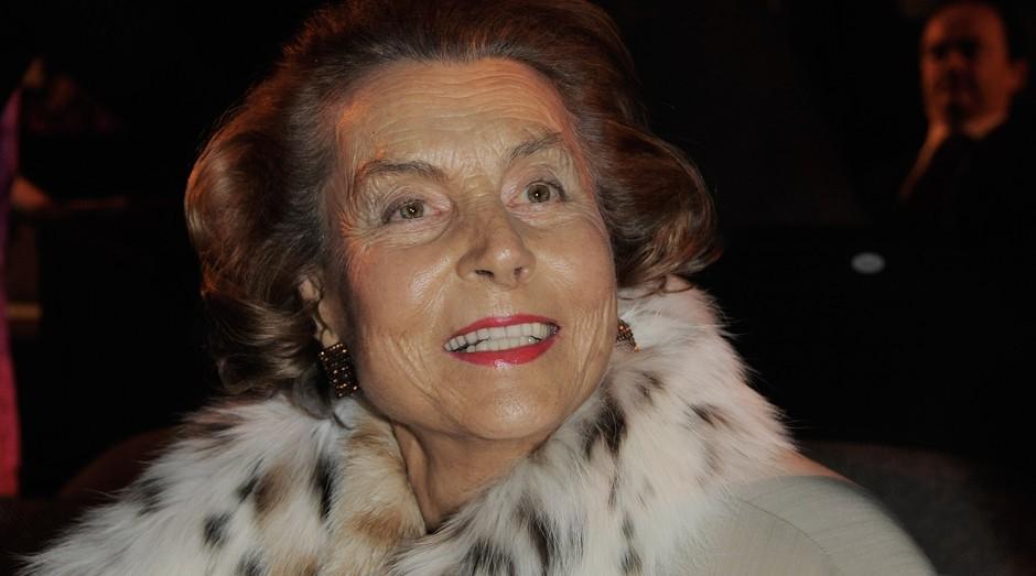 10º - Aos 92 anos, a francesa Liliane Bettencourt é a principal acionista da L'Oreal. A fortuna da empresária corresponde a um valor de US$ 40,1 bilhões. (Foto: Getty Images)