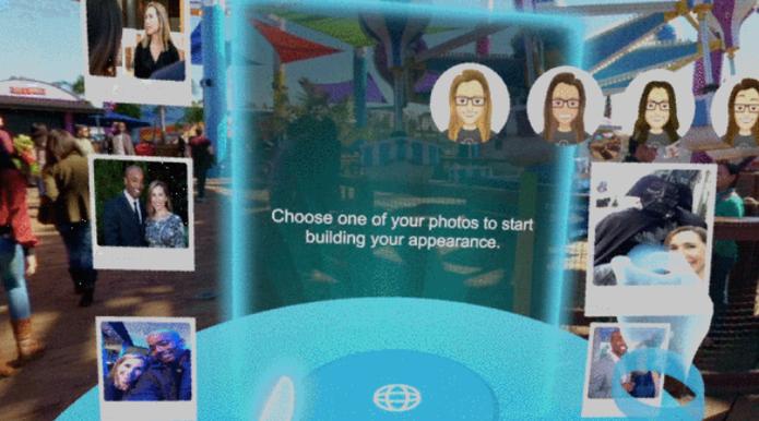 No Facebook Spaces, basta escolher uma foto para criar um avatar 3D (Foto: Divulgação/Facebook)