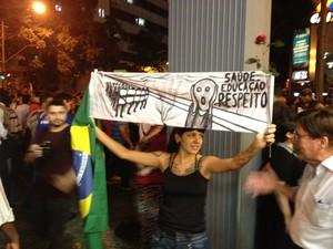 Arte para expressar opressão (Foto: Luís Bulcão/G1)