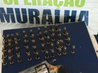 Operação Muralha apreende cigarros, remédios, droga e arma e prende três