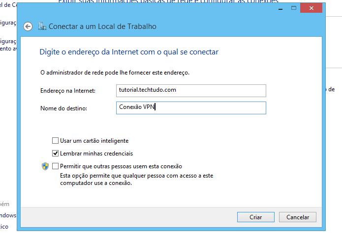 Entre com os dados do servidor (Foto: Reprodução/Helito Bijora)