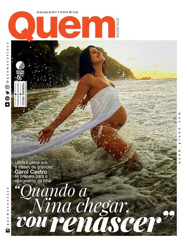 Carol Castro é capa da QUEM de assinantes (Foto: Iaponã)