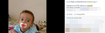 'Pesadelo', diz tia de menino que morreu ao cair em balde (Reprodução/Facebook)