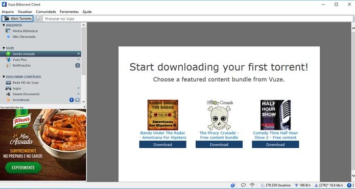 Vuze tem plataformas internas para descobrir conteúdos (Foto: Reprodução/Barbara Mannara)