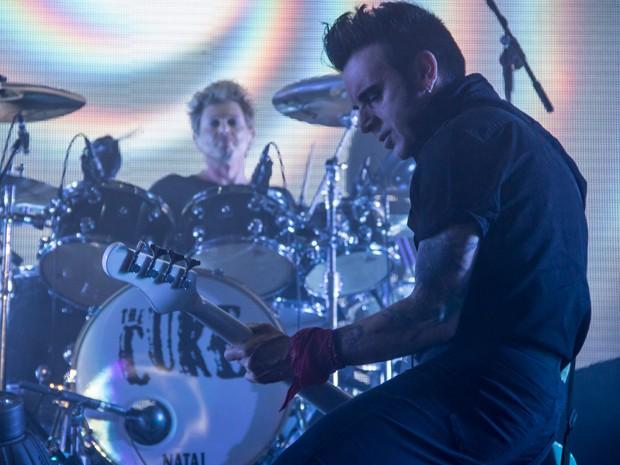 """Banda tocou músicas como 'Open', 'Push' e Boys Don't Cry"""" (Foto: Patrick Rocha/Divulgação HSBC Arena)"""