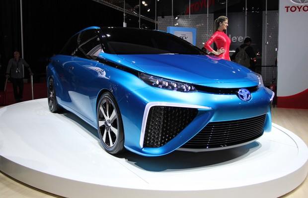 Toyota FCV Concept no Salão do Automóvel 2014 (Foto: Fabio Aro/Autoesporte)