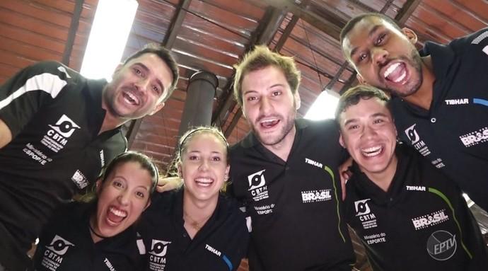 Seleção Brasileira paralímpica de Tênis de Mesa (Foto: reprodução EPTV)