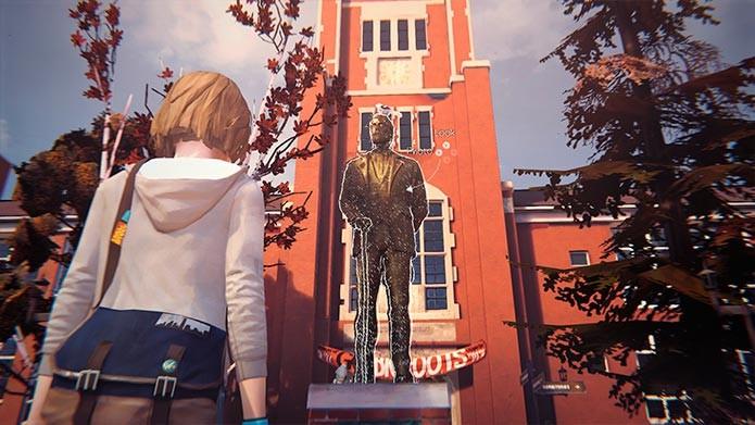Tire foto da estatua no meio da fonte (Foto: Reprodução/Tais Carvalho)