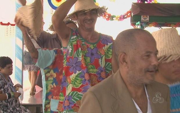 A festa é uma forma de reforçar os laços entre os pacientes e também proporcionar diversão a eles. (Foto: Acre TV)