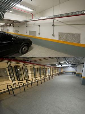 garagem_bicicletário (Foto: Flávio Moraes/G1)