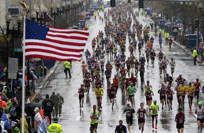 Maratona de Boston (Foto: Charles Krupa / AP)