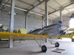 Avião Ryan, de 1938, uma das raridades do italiano (Foto: Mariane Rossi/G1)