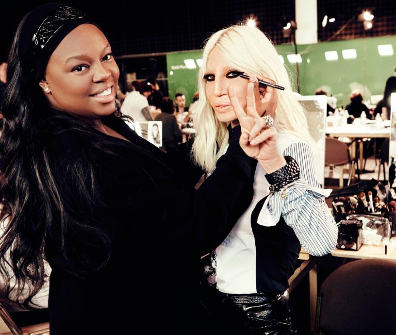 Pat Mcgrath e Donatella Versace (Foto: Reprodução/Glamour.com)