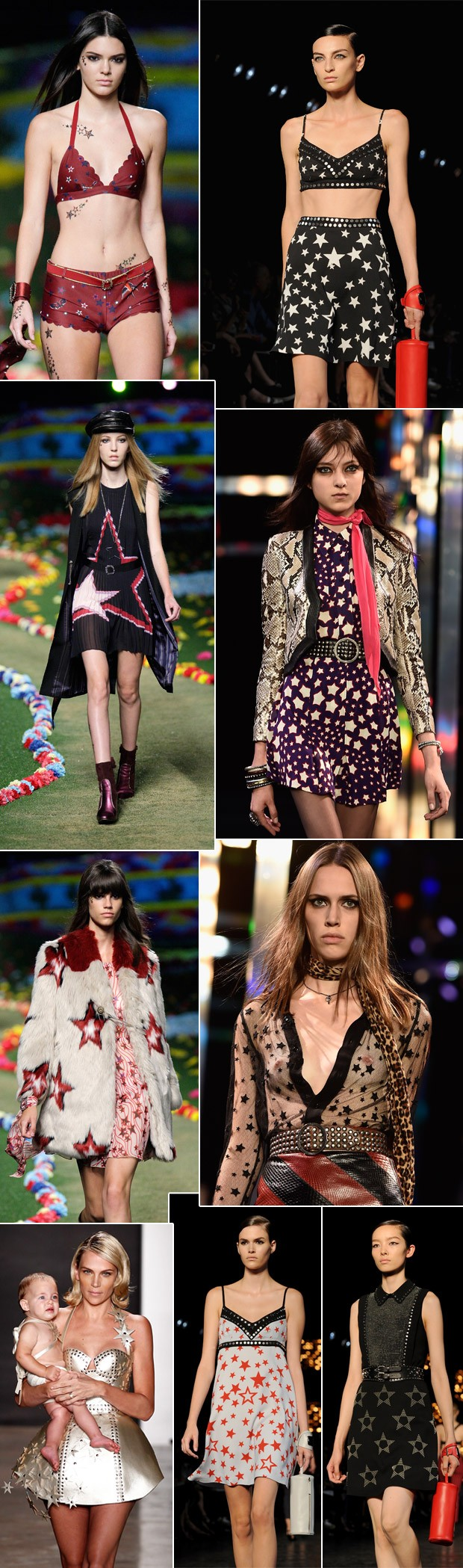 Desfiles de vero 2015 de Saint Laurent Paris, Zana Bayne, Tommy Hilfiger e Diesel Black Gold. (Foto: Getty Images)