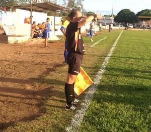 Gilvan Cavalcante em partida das semifinais do Campeonato Tocantinense (Foto: Vilma Nascimento/GloboEsporte.com)
