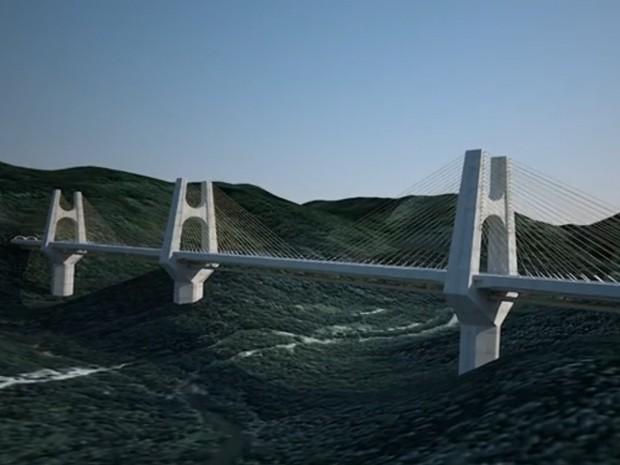 Projeto de nova rodovia liga o Rodoanel Leste ao Porto de Santos (Foto: Contern/Divulgação)