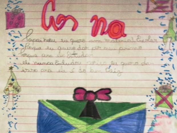 Carta de menina de cinco anos comoveu policiais (Foto: Divulgação/SSP-TO)