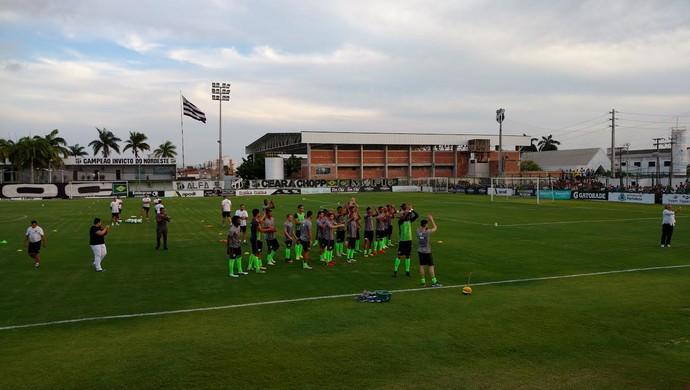 Ceará, centro de treinamento, jogadores (Foto: Juscelino Filho)