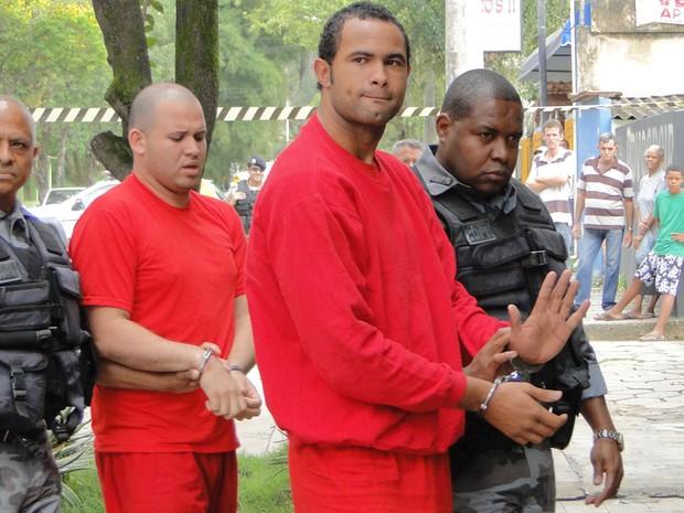 29.jul.2010 - Polícia indicia Bruno e mais sete réus por cinco crimes contra Eliza Samudio e o filho dela (Foto: Pedro Triginelli/G1 MG)