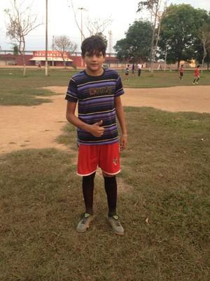 Jorge é um dos participantes que também quer investir na carreira de jogador (Foto: Dayanne Saldanha)