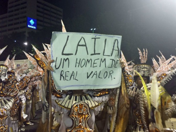 Laíla fez acusações de fraude nas notas (Foto: Lívia Torres / G1)