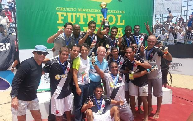 Vasco é o campeão da 1ª etapa do Circuito Brasileiro de futebol de areia (Foto: Richard Pinheiro/Globoesporte.com)
