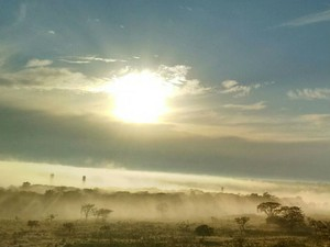Neblina Uberlândia (Foto: Fred Adib/Arquivo Pessoal)