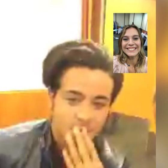 A modelo paulista e o ator trocaram WhatsApp e também se falaram via Skype (Foto: Reprodução)