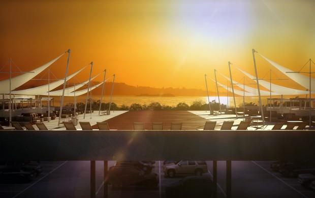 Sunset estádio Beira-Rio (Foto: BRrio/Divulgação)