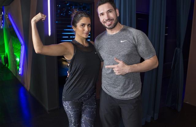 Luiza Souza e Rodrigo Sangion, fundador da Les Cinq Gym e personal trainer  (Foto: Diego Luz)