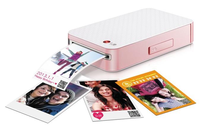 LG Pocket Photo é super leve e compacta (Foto: Divulgação/LG)